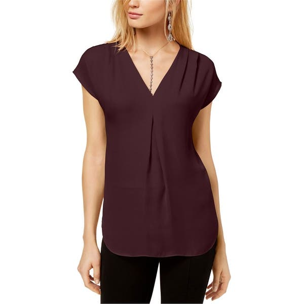 Shop I N C Womens Inverted Pleat Pullover Blouse Overstock 29756093