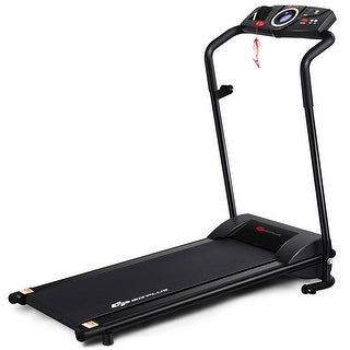 Goplus 1HP Goplus Electric Treadmill Folding Motorized Power Running Fitness Machine - Black
