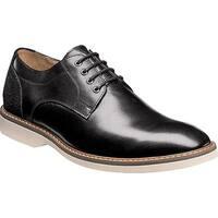 Florsheim Men's Union Plain Toe Oxford Black Full Grain Leather/Suede