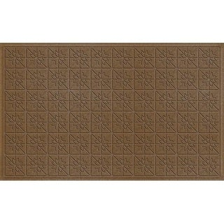843520035 Water Guard Star Quilt Mat in Dark Brown - 3 ft. x 5 ft.