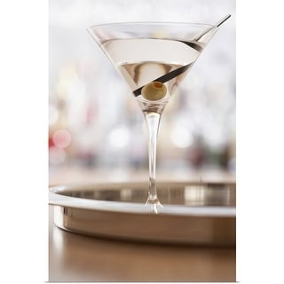"""Martini on bar"" Poster Print"
