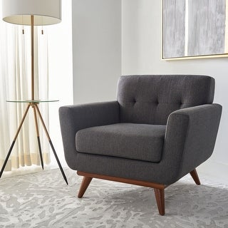 """Link to Safavieh Couture Opal Mid-Century Modern Tufted Arm Chair - 35"""" W x 33.1"""" L x 32.7"""" H Similar Items in Living Room Chairs"""