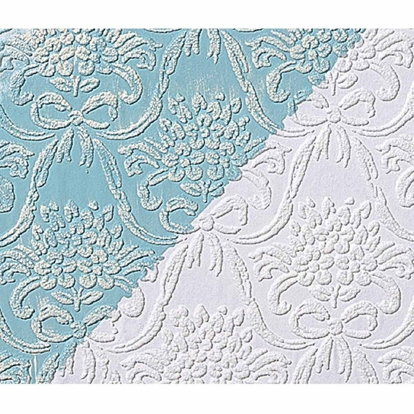 Wallpapers White Embossed Textured Vinyl Kensington