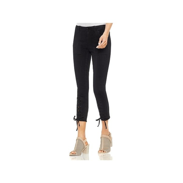 Shop Vince Camuto Womens Skinny Jeans Lace Up Denim Free