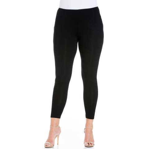 24seven Comfort Apparel Comfortable Ankle Length Plus Size Leggings