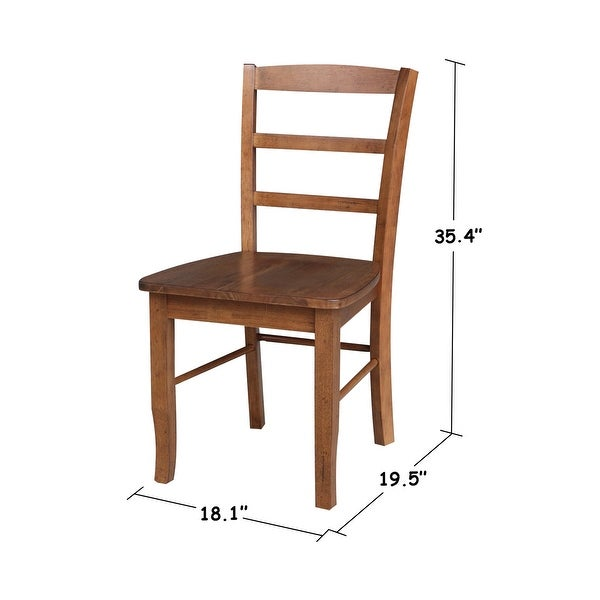 International Concepts Madrid Ladderback Chairs (Set of 2) - N/A