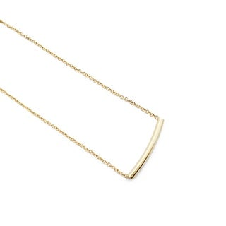 HONEYCAT Rounded Tube Bar Necklace (Delicate Jewelry)