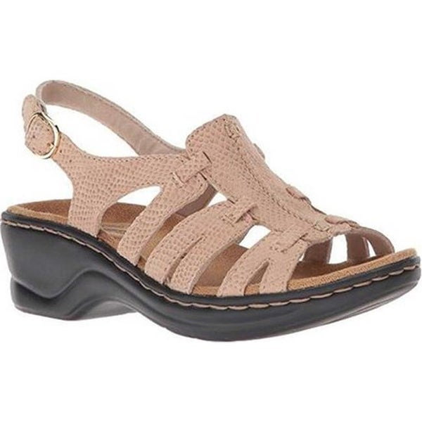 9710697750f Shop Clarks Women s Lexi Marigold Sandal Sand Snake Print Suede - On ...