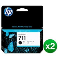 HP 711 Black DesignJet Ink Cartridge (CZ129A)(2-Pack)