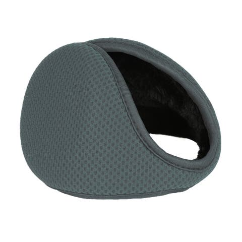 Outdoor Activities Warm Ear Earmuffs Winter for Men Women Gray-3