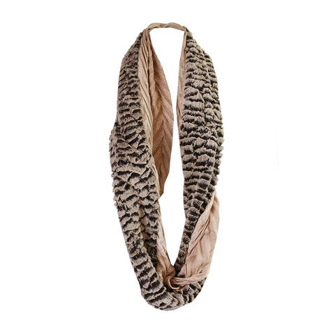 Collection Xiix Wild Honey Chinchilla Faux-Fur Infinity Loop Scarf OS