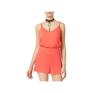 Ultra Flirt Womens Juniors Romper Jersey Sleeveless