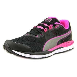 puma shoes pink and black. puma speed 600 ignite round toe synthetic sneakers shoes pink and black