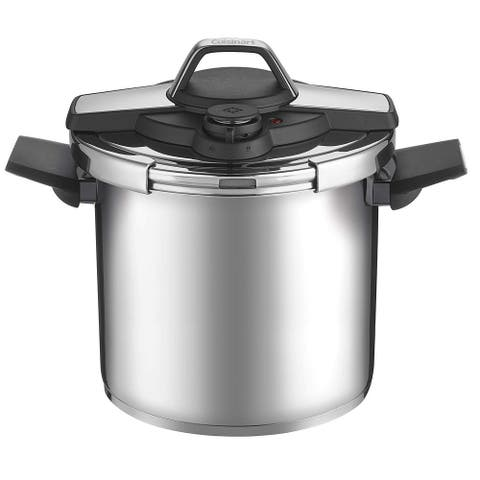 Cuisinart CPC22-8 Professional Collection Stainless Steel Pressure Cooker, 8-Quart, Silver