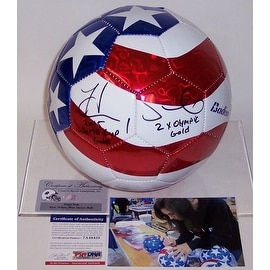 Hope Solo Autographed Hand Signed Baden Soccer Ball  PSADNA