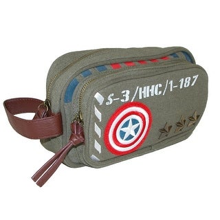 Marvel Captain America Military Canvas Toiletry Bag