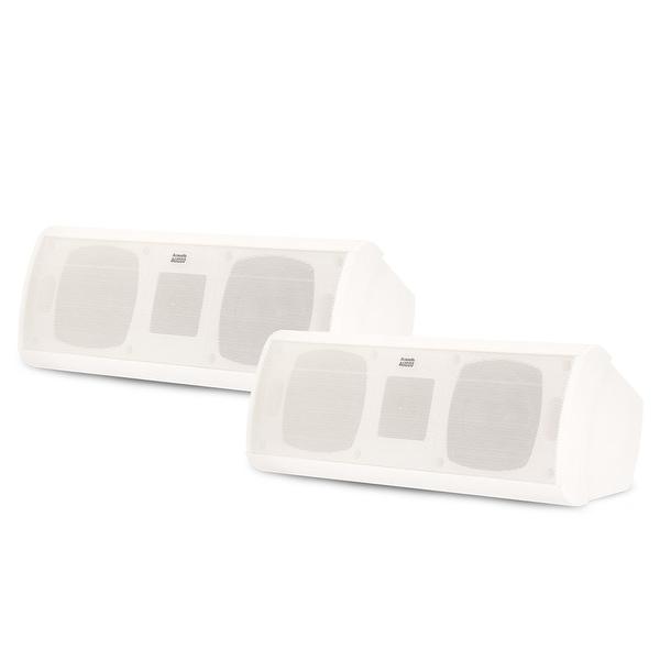 Acoustic Audio AA40CW Indoor 3 Way Speaker Pair 1000W White Bookshelf AA40CW-PR