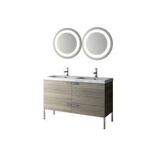 """Nameeks ANS278 ACF 47"""" Floor Standing Vanity Set with Wood Cabinet, Ceramic Top with 1 Sink and 1 Mirror"""