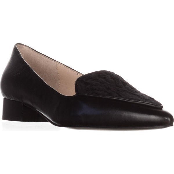 Cole Haan Dellora Skimmer Pointed Toe Loafers, Black Lace - 5.5 us