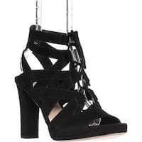 Via Spiga Collette Strappy Lace Up Sandals, Black