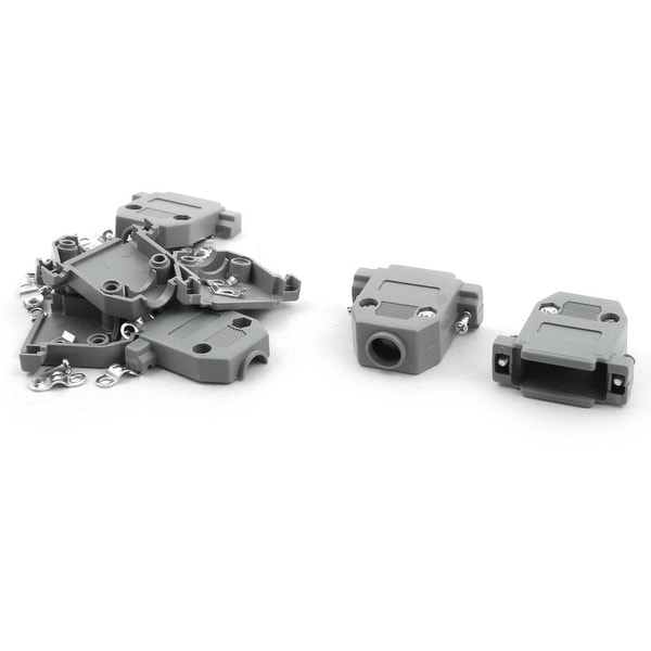 DIY Serial D-Sub DB15 Connector Kit Plastic Hoods Shell Gray 5pcs w Screws