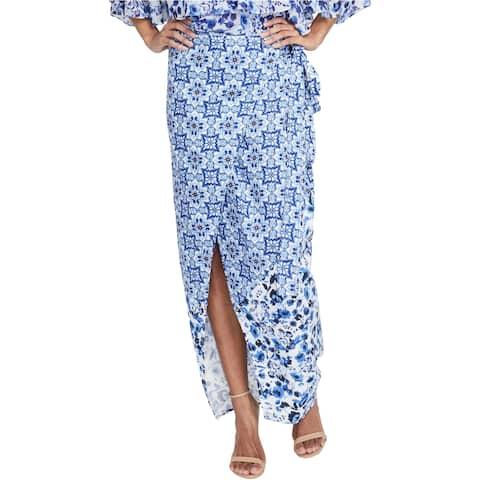 Rachel Roy Womens Printed Wrap Skirt