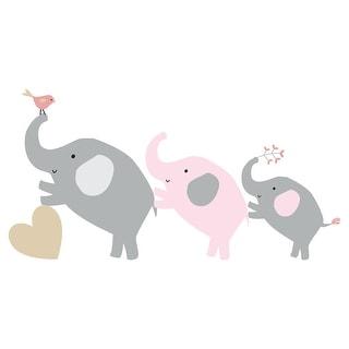 Bedtime Originals Eloise Gray/Pink/Gold Elephant Nursery Wall Decals