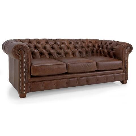 Hancock Tufted Top Grain Italian Leather Chesterfield Sofa