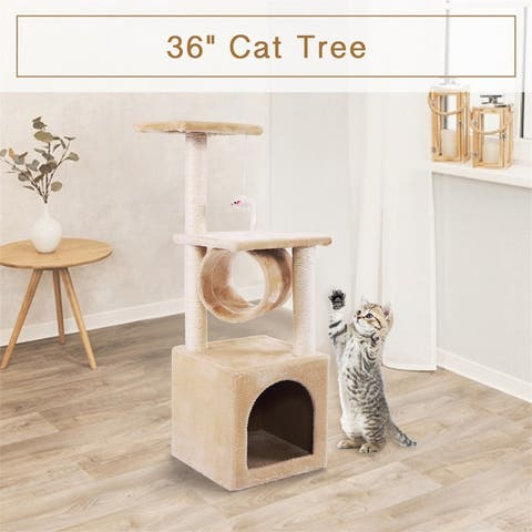 """36"""" Cat Tree Activity Tower Pet Kitty Furniture with Scratching Posts"""