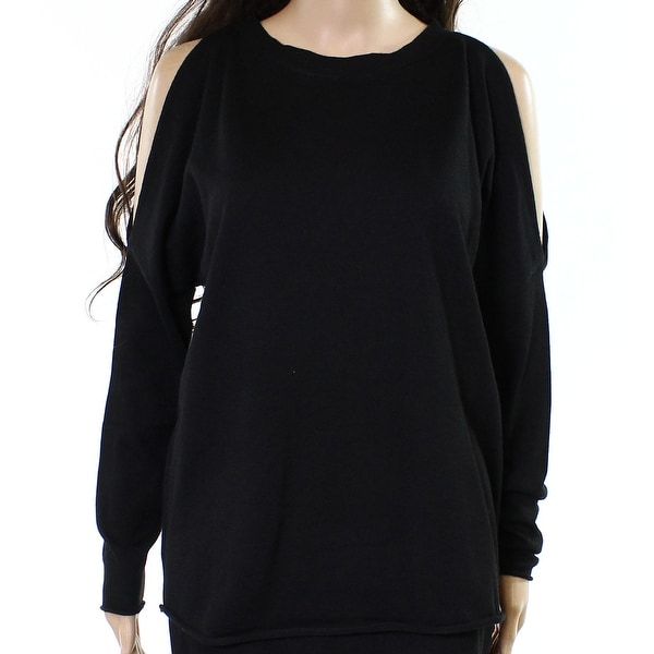 John + Jenn Women Large Cold Shoulder Pullover Sweater