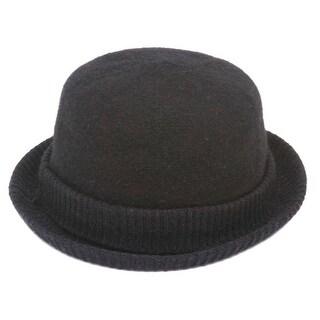 Womens Cuffed Winter Bowler Hat