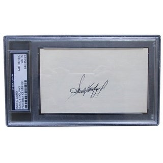 Sandy Koufax Signed Los Angeles Dodgers Slabbed Cut Auto PSA 84035475