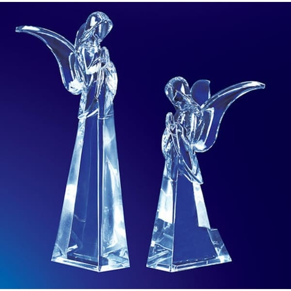 """Pack of 4 Icy Crystal Religious Christmas Butterfly Angel Figurines 7.5"""" - CLEAR"""