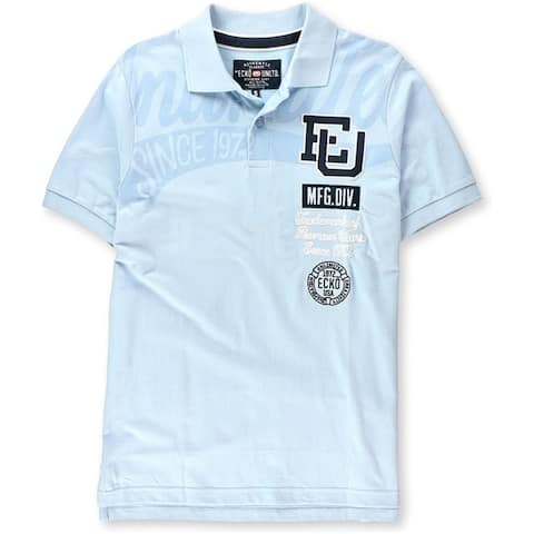Ecko Unltd. Mens High Class Rugby Polo Shirt, Blue, Small