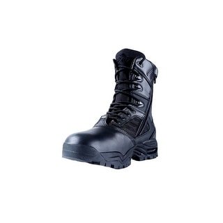 """Ridge Tactical Boots Mens Ultimate Zip Leather 8"""" Shaft Black 9000"""