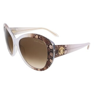 Roberto Cavalli RC727S/S 27F Pearl Grey/Brown Snakeskin Butterfly sunglasses - 60-17-135