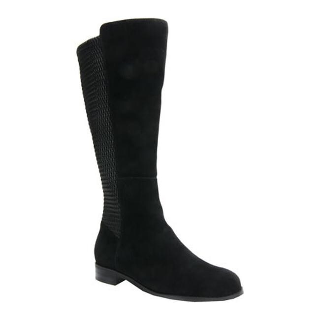 d31e4ba9101a Shop Ros Hommerson Women s Bianca Tall Wide Calf Boot Black Suede - On Sale  - Free Shipping Today - Overstock - 12200929