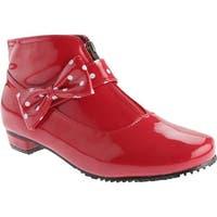 Beacon Shoes Women's Rainbow Red Polyurethane