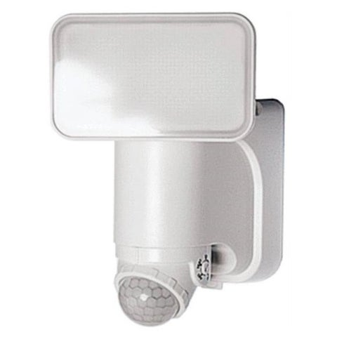 Heathco HZ-7162-WH Solar Motion Activated Security Light With Power Reserve Technology, 180 deg Sensing, 300 lumens