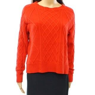 Rachel Zoe NEW Red Women's Size XS Elbow Patch Crewneck Sweater