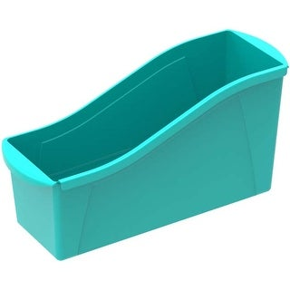 "Teal - Storex Large Book Bin 14.3""X5.3""X7"""