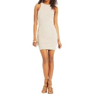 Trixxi Womens Juniors Clubwear Dress Textured Cut-Out