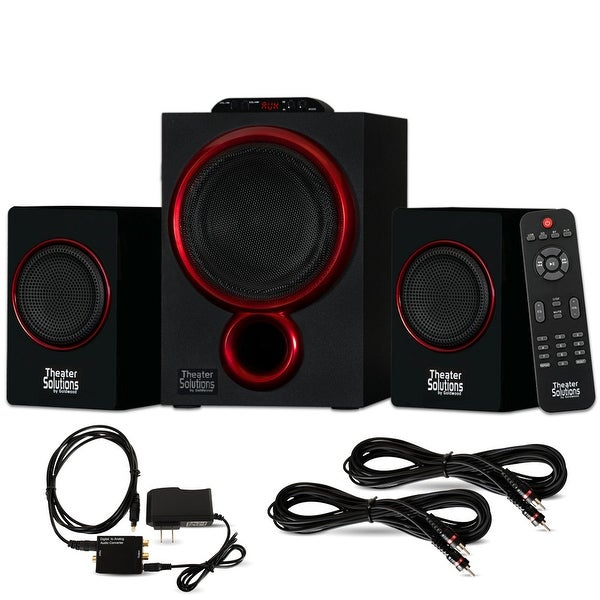 Theater Solutions TS212 Bluetooth 2.1 Speaker System Optical In & 2 Ext. Cables