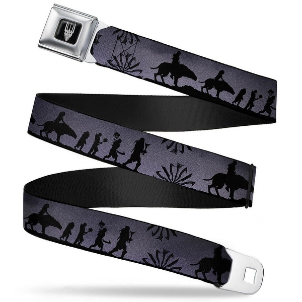 Smaug Icon Full Color Black Gray Hunter Orc Silhouettes Purple Gray Black Seatbelt Belt