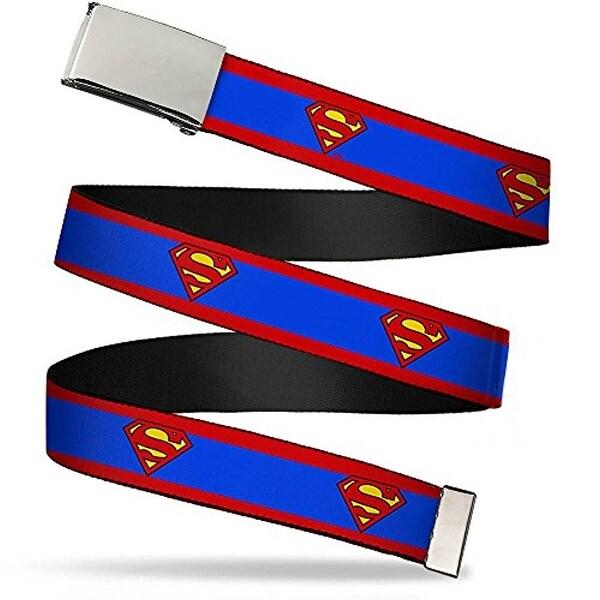 "Buckle-Down Web Belt Superman 1.25"""