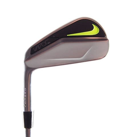New Nike Vapor Pro Forged Blade 4-Iron Black Gold R-Flex Steel LEFT HANDED