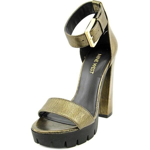 39ea0ee6a8f Shop Nine West Indira Women Open Toe Leather Platform Sandal - Free ...