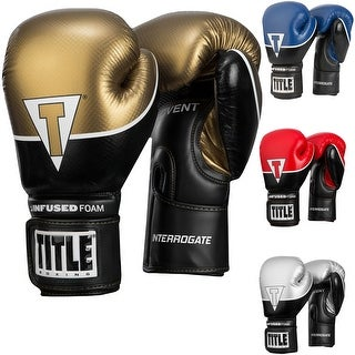 Title Boxing Infused Foam Interrogate Hook and Loop Training Gloves