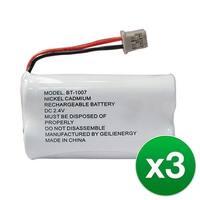 Replacement Battery For Panasonic KX-TG4000B Cordless Phones - P506 (600mAh, 2.4V, Ni-MH) - 3 Pack