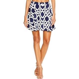 Aqua Womens A-Line Skirt Stretch Chain